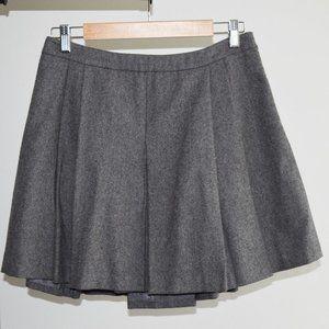 Vineyard Vines Gray Wool Pleated Skirt